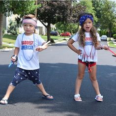 Happy 4th y'all  These two are looking sooo rad in our Patriotic boy band and head wrap.. ❤️