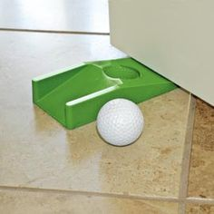 Turn a doorstop into putting practice! #Gifts #Golf Solutions.com