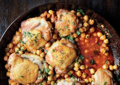 Chilly Day? Make Spicy, Pan-Roasted Chicken with Chickpeas photo