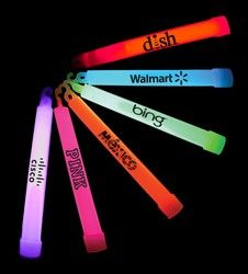 Glow Sticks With Lanyards, 6 inch.  These larger sized glow sticks are perfect to Trick or Treaters!  Help keep kids safe all while advertising your brand.