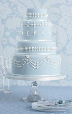I love love love this Tiffany cake by Peggy Porschen - I must make it one day!