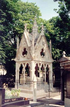 The sepulchre of Abelard and Heloise at Pere Lachaise Cemetery - Paris, France