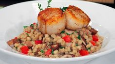 Wild Mushroom Barley Risotto with Scallops | Steven and Chris