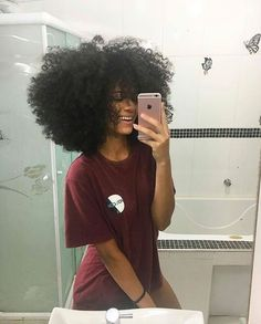 """Wish my hair was like this"" Natural Hair Journey, Natural Hair Tips, Natural Hair Styles, Natural Hair Blowout, Afro Hairstyles, Black Girls Hairstyles, Pelo Afro, Pelo Natural, Natural Hair Inspiration"