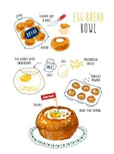 比真的看起來更美味!韓國插畫家筆下的繽紛食譜,可愛到口水流了三公尺 - PopDaily 波波黛莉的異想世界