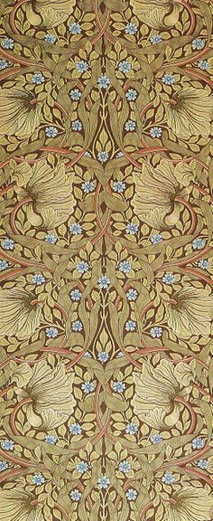 William Morris wallpaper. A Must Have Designer - if you are to do this style justice! William Morris