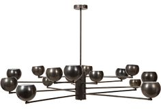 "1960's Metal Light Fixture II, with 16 lights and an ebonized finish, on OneKingsLane.com | 67""dia x 35""h 