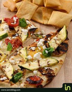 Grilled vegetable and goat cheese pizza  Photo © Vadim Daniel