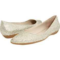 Instead of two dresses- why not heels for the wedding and flats for the reception?