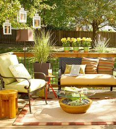 Garden with different type of seating that may be best for your patio.