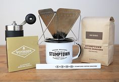 Travel mini burr coffee grinder and dripfilter!  I am traveling at least 3-4 days out of the week... NEED!