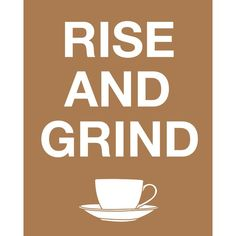 Coffee Art Rise and Grind Customizable Print Poster wall decor kitchen wall art inspirational motivational cafe barista Coffee Art Rise and Grind Custom Print Poster wall by CAPow Coffee Talk, I Love Coffee, Coffee Break, My Coffee, Coffee Cups, Morning Coffee, Happy Coffee, Coffee Signs, Coffee Png