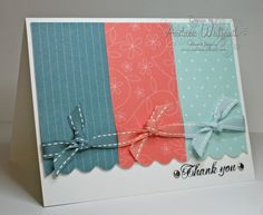 scalloped paper + ribbon