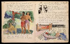 """Pages from Gauguin's journal """"Ancien culte Mahori"""" Paul Gauguin (1848-1903)"""