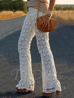80d0dbd656 Authentic Boho Chic White Lace Pants 2015 Summer Collection Look.