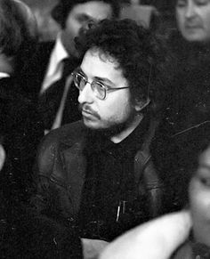 Bob Dylan at the premiere of his film Eat the Document - 1971