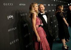 Pin for Later: Die Stars hatten sich richtig in Schale geworfen für die LACMA Gala Rosie Huntington-Whiteley in Gucci und Jason Statham