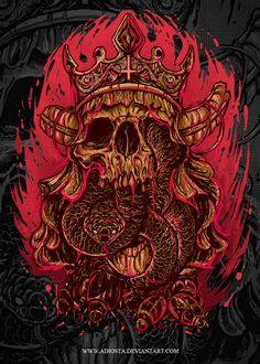 SKULL - Death King by ~adiosta on deviantART