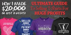 Fiverr freelancer will provide T-Shirts & Merchandise services and give You Best Selling UNIQUE Teespring Tshirt Design That Generated within 1 day Business Marketing, Online Business, What To Sell Online, Educational Websites, Be Your Own Boss, Work From Home Jobs, Selling Online, How To Get Money, Tshirts Online