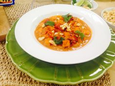 Spicy Peanut Soup ... can sub. Almond or other nut butter for peanut ...