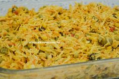 Salpicão de Frango Carne, Macaroni And Cheese, Cabbage, Pizza, Rice, Vegetables, Ethnic Recipes, Roasted Sweet Potatoes, New Recipes