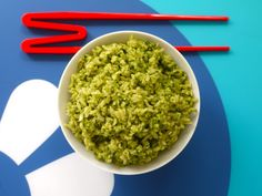 Spinach Pesto on Rice from Weelicious author Catherine McCord