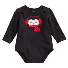 Jumping Beans Penguin Bodysuit - Baby
