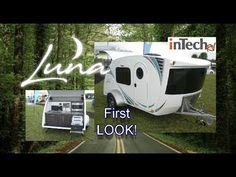 Consider using this bow shaped front on a DIY trailer. Still aerodynamic. NEW 2018 inTech RV Luna Teardrop Trailer Small Camping Trailer, Small Travel Trailers, Cargo Trailers, Camping Trailers, Camping Stuff, Camping Ideas, Teardrop Camping, Cargo Trailer Conversion, Small Rv