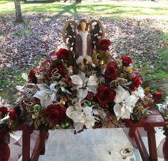 Christmas grave saddle for my Sister.
