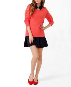 Relaxed Purl Knit Sweater   FOREVER 21 - 2043537546