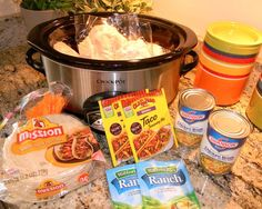 Crockpot Chicken Tacos- My sis-in-law (to be) recommended them, so we are trying them out next week