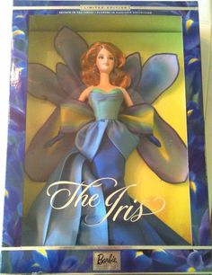 Barbie The Iris Collector Fahion Doll 4th in Flowers in Fashion Series SOLD OUT The Collector, Different Styles, Fashion Dolls, Iris, Disney Characters, Fictional Characters, Aurora Sleeping Beauty, Barbie, Boutique