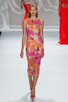 #Lhuillier RS14  And the floral trends continue to 2014!  Lovely #dress