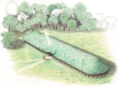 Reconstruction of the giant Bronze Age Hall from Brd Ancient Egyptian Art, Ancient Aliens, Ancient Greece, Ancient History, European History, American History, Classical Antiquity, Architecture Tattoo, Iron Age