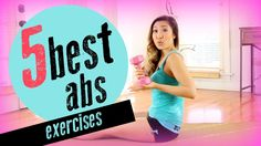 The 5 Best & Most Effective Ab Exercises - These are the 5 ab most effective ab exercises to tone and tighten your abs and help you flatten your tummy. 1. Saturn Rings, 2. Weighted Roll Up, 3. Double Leg Lift, 4. Criss Cross, and 5. Hollow Rock.