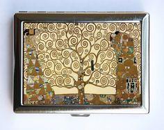 Klimt Tree of Life Wallet Business Card Holder Art Nouveau. $12.99, via Etsy.