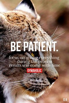 Be Patient Fitness Revolution -> http://www.gymaholic.co/ #fit #fitness #fitblr #fitspo #motivation #gym #gymaholic #workouts #nutrition #supplements #muscles #healthy