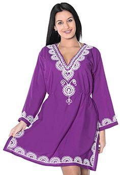 La Leela Rayon Embroidered beachwear sundress Long maxi Blouse tank plus size Tank Top Vacation Summer Purple Gifts *** Amazon most trusted e-retailer #MaternityDresses