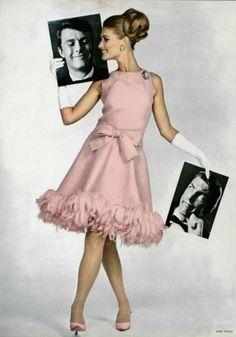Jean Patou 1955 pretty pink dress