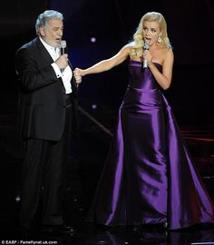 Katherine Jenkins and Placido Domingo singing Come What May 2012 Royal Variety Performance