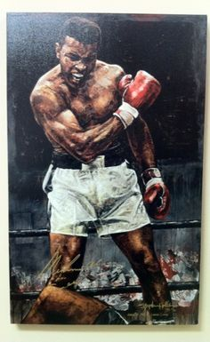 Mohamed Ali aka Cassius Clay -by Stephen Holland Kickboxing, Muay Thai, Boxe Fight, Boxe Mma, Muhammad Ali Boxing, Boxing Posters, Float Like A Butterfly, Boxing Champions, Black Artwork