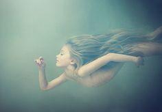 stunning underwater portrait