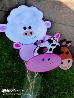 Barnyard Animal Masks PRINTABLES PDF  DIY by TheGrapeVineEvents, £2.50
