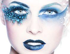 Blue make up Blue Makeup, Skin Makeup, Beauty Makeup, Airbrush Makeup, Girls Makeup, Make Up Art, How To Make, Eye Makeup Designs, Makeup Ideas