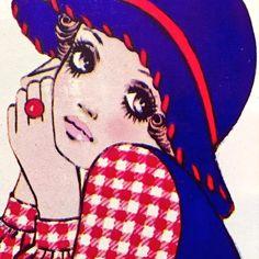 """1970年 週刊セブンティーン 佐藤昌彦イラスト  ☆Illustration by Masahiko Satō on weekly """"Seventeen"""" magazine, 70's Japan."""