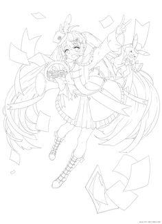Anime Drawings Sketches, Cool Art Drawings, Anime Sketch, Colorful Drawings, Drawing Base, Manga Drawing, Cute Coloring Pages, Coloring Books, Anime Lineart