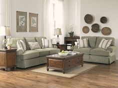 Living Room with rustic feel