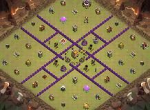 th7war base TH 7 Clash of Clans Base Layout