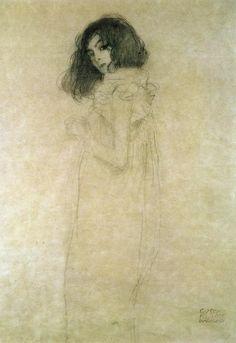 Portrait of a young woman Gustav Klimt