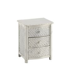 Furnitures : Excellent Weather Worn Rubbed White Marco Island Wicker Nightstand With White Finish Using Hand Rubbed White Finish And Leather Wrapped Accents Best Choices for the Design of Wicker Nightstand Kitten House. Nightstand With Wicker Baskets. Hanover.